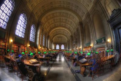 Boston Architecture Photograph - Boston Public Library Reading Room by Joann Vitali