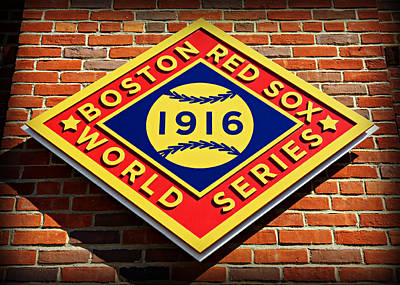 Bosox Photograph - Boston Red Sox 1916 World Champions by Stephen Stookey