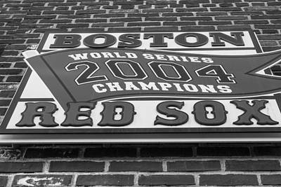 Photograph - Boston Red Sox 2004 World Series Champions  by John McGraw