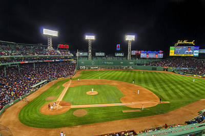 Baseball Photograph - Boston Red Sox And New York Yankees At Fenway Park - Art by Donna Doherty