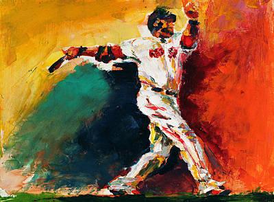 Boston Red Sox Painting - Boston Red Sox Beard David Ortiz by Derek Russell