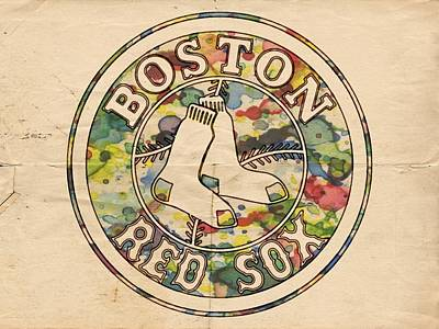 Red Painting - Boston Red Sox Poster by Florian Rodarte