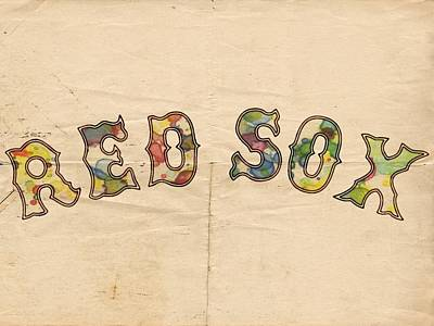 Boston Red Sox Vintage Poster Art Print by Florian Rodarte
