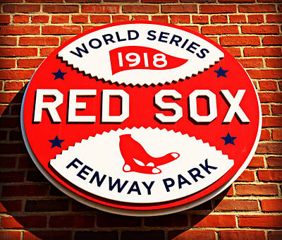 Athletes Royalty-Free and Rights-Managed Images - Boston Red Sox World Series Champions 1918 by Stephen Stookey