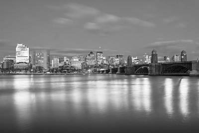 Photograph - Boston River And Bridge Black An White  by John McGraw