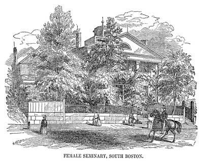 Seminary Painting - Boston Seminary, 1857 by Granger