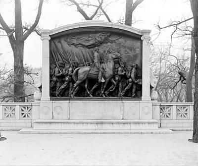 War Relief Photograph - Boston Shaw Memorial by Granger