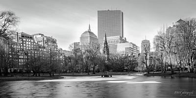 Boston Sky From Public Garden Art Print