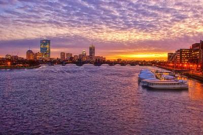 Boston Night Skyline Photograph - Boston Sky by Joann Vitali