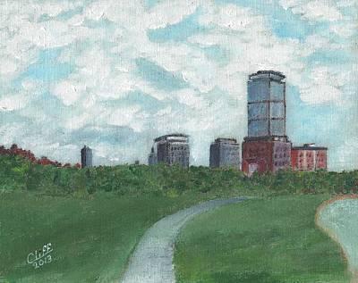 Boston Skyline 1968 Print by Cliff Wilson