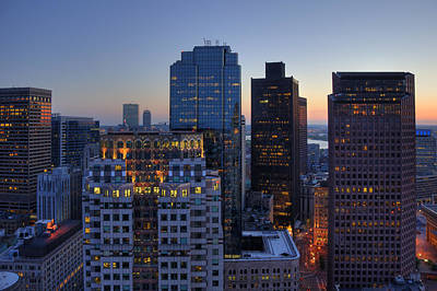 Photograph - Boston Skyline - Financial District by Joann Vitali