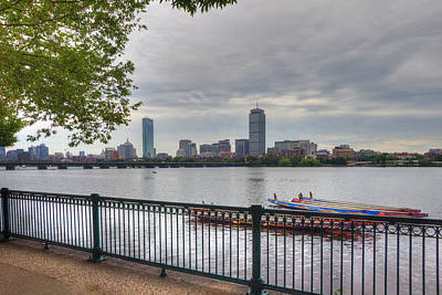 Photograph - Boston Skyline And Dragon Boats by Joann Vitali