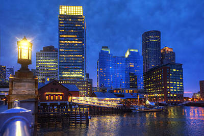 Photograph - Boston Skyline And Tea Party Museum by Joann Vitali