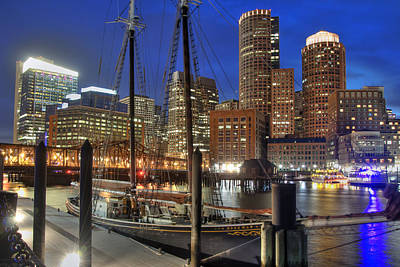 Photograph - Boston Skyline And The Roseway by Joann Vitali