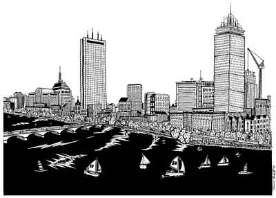 Boston Skyline Back Bay Art Print by Conor Plunkett
