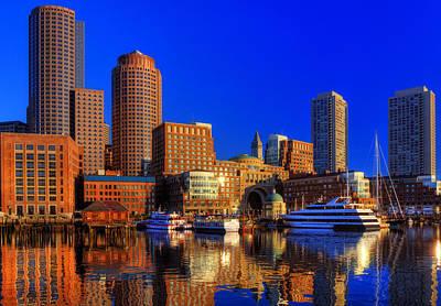 Boston Skyline Photograph - Boston Skyline - Boston Harbor by Joann Vitali