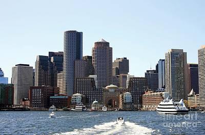 Boston Skyline Art Print by David Gardener