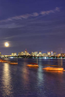 Charles River Photograph - Boston Skyline From Memorial Drive by Joann Vitali