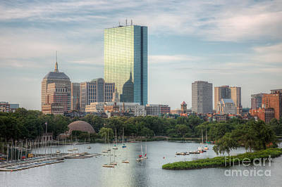 Boat Basins Photograph - Boston Skyline I by Clarence Holmes