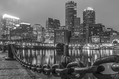 Photograph - Boston Skyline In Black And White by John McGraw