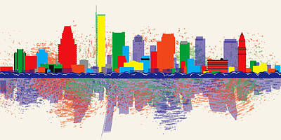 Digital Art - Boston Skyline by Loretta Luglio