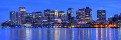 Boston Panoramic Photograph - Boston Skyline Panoramic 4 by Joann Vitali