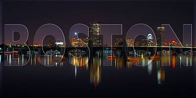 Boston Panoramic Photograph - Boston Skyline Poster by Joann Vitali