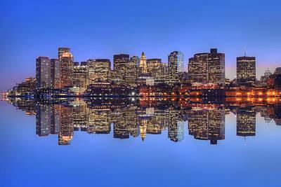 Boston Skyline Reflections Art Print