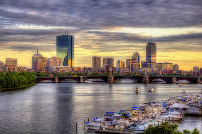 Charles River Photograph - Boston Skyline Sunset - 5 by Joann Vitali