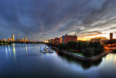 Charles River Photograph - Boston Skyline Sunset Of Back Bay And Cambridge by Joann Vitali
