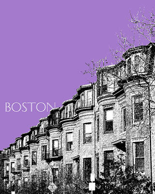 Tower Digital Art - Boston South End - Violet by DB Artist