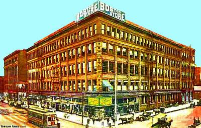 Painting - Boston Store In Milwaukee Wi 1910 by Dwight Goss