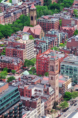 Photograph - Boston Street Aerial View by Songquan Deng