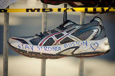Sneaker Photograph - Boston Strong by Andrew Kubica