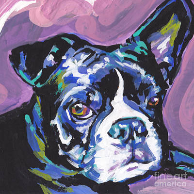 Dog Pop Art Painting - Boston Strong by Lea S
