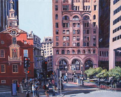 City Hall Painting - Boston Summer by Deb Putnam