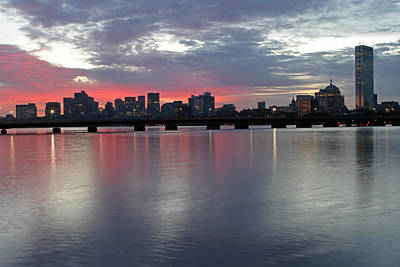 Charles River Photograph - Boston Sunrise by Juergen Roth