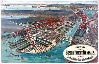 Boston Terminal, C1903 Art Print