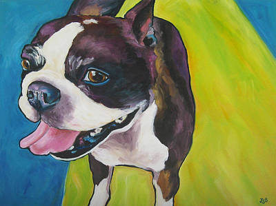 Painting - Boston Terrier - Bubba by Janet Burt