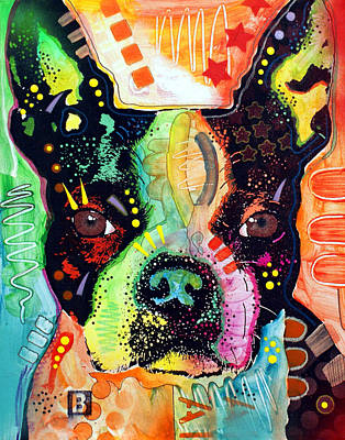 Art Print featuring the painting Boston Terrier IIi by Dean Russo