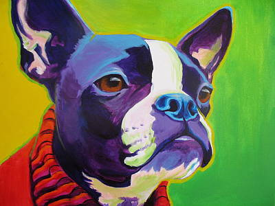 Dawgart Painting - Boston Terrier - Ridley by Alicia VanNoy Call