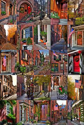 Latidude Image - Boston Tourism Collage by Joann Vitali