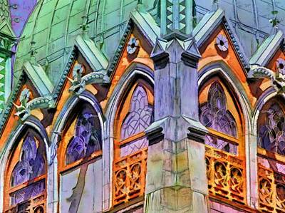 Painting - Boston Trinity Church Arches - Horizontal  by Lyn Voytershark