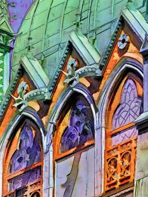 Painting - Boston Trinity Church Arches - Vertical by Lyn Voytershark