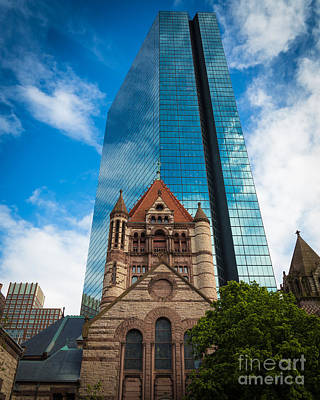 Boston Trinity Church Art Print by Inge Johnsson