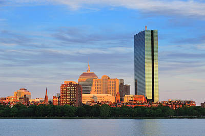 Photograph - Boston Urban City Skyline by Songquan Deng