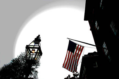 Gas Lamp Photograph - Boston Usa by Charlie and Norma Brock
