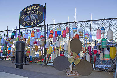 Bouys Photograph - Boston Waterboat Marina Buoys  by Betsy Knapp