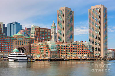 Photograph - Boston Waterfront Skyline And Rowes Wharf I by Clarence Holmes