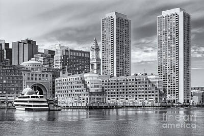 Photograph - Boston Waterfront Skyline And Rowes Wharf II by Clarence Holmes